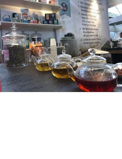 Tee-Hersteller-Mount-Everest-Tea auf der Tee-Messe