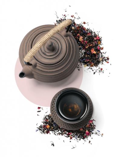 Tee-Sortiment-Zubehör von Mount Everest Tea